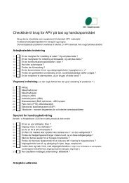 Checkliste til brug for APV på taxi og handicapområdet