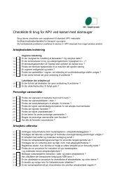 Checkliste til brug for APV ved kørsel med slamsuger