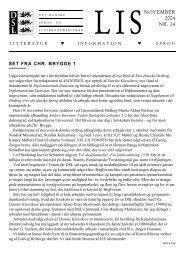 LIS 24 (oktober 2004) - Det Danske Sprog- og Litteraturselskab