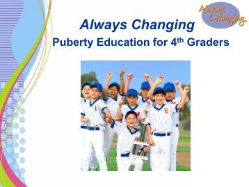 4th Grade - Always Changing for Boys - Graded