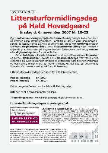 Litteraturformidlingsdag på Hald Hovedgaard - Det Danske Forfatter ...