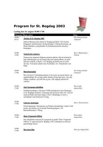 Program for St. Bogdag 2003 - Det Danske Forfatter- og ...
