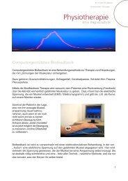 Computergestütztes Biofeedback - Physiotherapie :: Mießner und ...