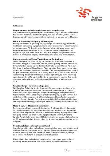 Fakta ark 2: Havneprojekter - Bryghusprojektet