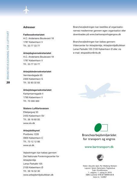 Støj i luftfartøjer - BAR transport og engros