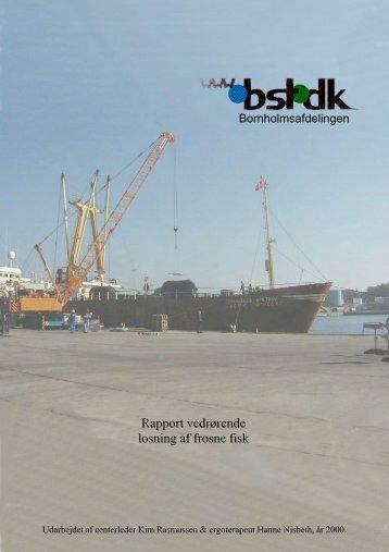 Rapport vedrørende losning af frosne fisk - BAR transport og engros