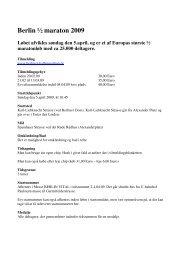 Berlin ½ maraton 2009 Løbet afvikles søndag den 5.april, og er et af ...