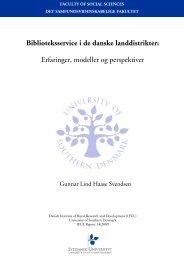Biblioteksservice i de danske landdistrikter - Syddansk Universitet