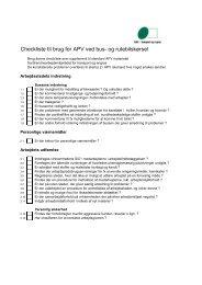 Checkliste til brug for APV ved bus- og rutebilskørsel - BAR transport ...
