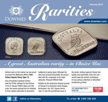 Downies Rarities - February 2015