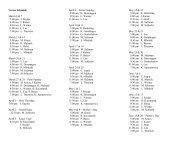Lector Schedule March 6 & 7 5:00 pm J. Snyder 8 ... - St. Peter Parish