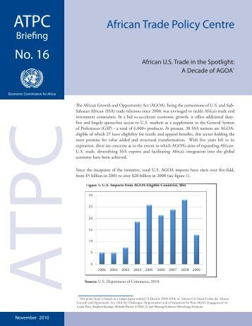 African U.S. Trade in the Spotlight - United Nations Economic ...