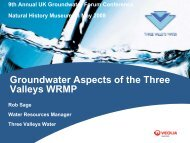 Groundwater aspects of Three Valleys long term water resource ...
