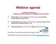 Community Policing Webinar Presentation Slides - Cities of Migration