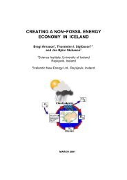 CREATING A NON−FOSSIL ENERGY ECONOMY IN ICELAND