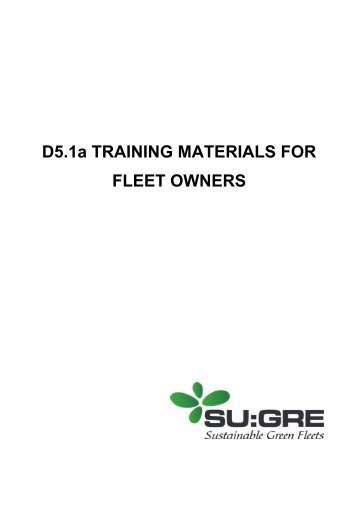 D5.1a TRAINING MATERIALS FOR FLEET OWNERS