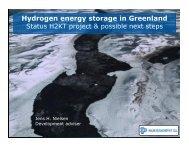 Hydrogen energy storage in Greenland