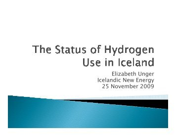 The Status of Hydrogen Use in Iceland