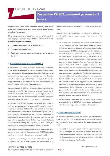 L'expertise CHSCT, comment ça marche? (Partie 2) - Orseu