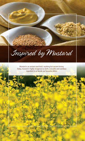 Inspired by Mustard - Saskatchewan Mustard Development ...
