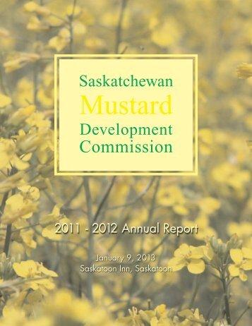 SMDC 2011/2012 Annual Report - Saskatchewan Mustard ...