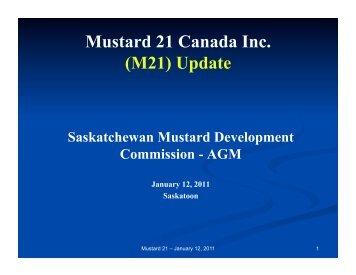 Mustard 21 Canada Inc. - Saskatchewan Mustard Development ...