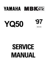 Yamaha YQ50 Aerox 97 Service Manual ENG By ... - Odor Motor Bt.