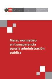 Marco Normativo en Transparencia para la Administración ... - Ugel 02