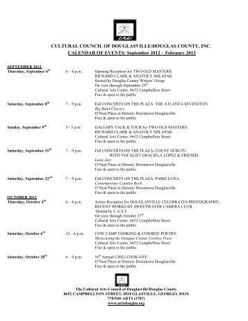 cultural arts center - the Cultural Arts Council of Douglasville ...