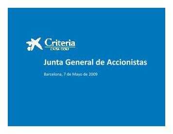 Junta General de Accionistas - la Caixa
