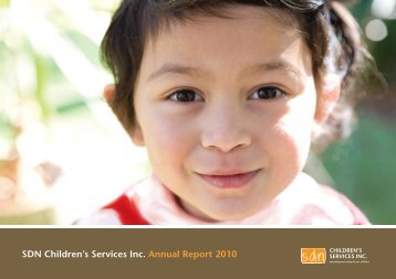 SDN Children's Services Inc. Annual Report 2010