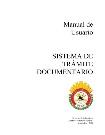 Manual de Usuario SISTEMA DE TRÁMITE DOCUMENTARIO