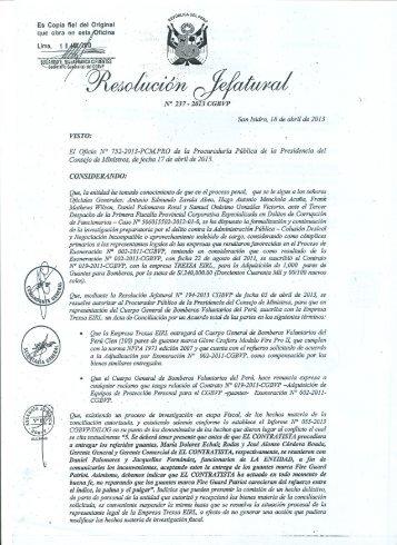 . Es Copia fiel del Original Lima, El Oficio N' 752-2013-PCMPRO de ...