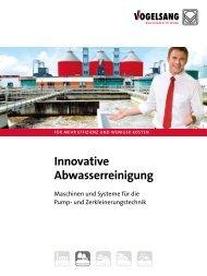 Prospekt Innovative Abwasserreinigung - Vogelsang