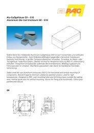 Alu-Gußgehäuse G9 – G16 Aluminium Die-Cast Enclosure G9 – G16