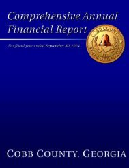 For The Fiscal Year Ended September 30, 2004 - Cobb County