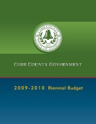 Biennial Budget 2 0 0 9 - 2 0 1 0 - Cobb County Government