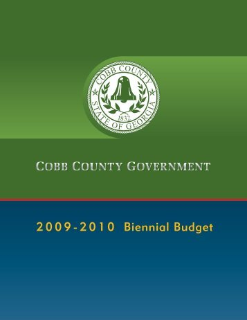 Biennial Budget 2 0 0 9 - 2 0 1 0 - Cobb County Government
