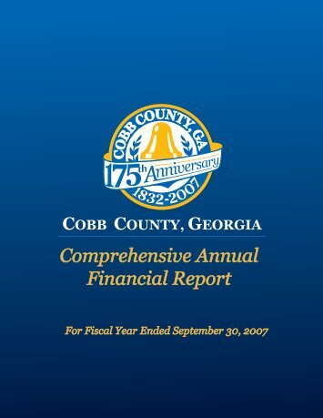 Comprehensive Annual Financial Report - Cobb County