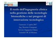 Il ruolo dell'ingegneria clinica nella gestione delle tecnologie ...