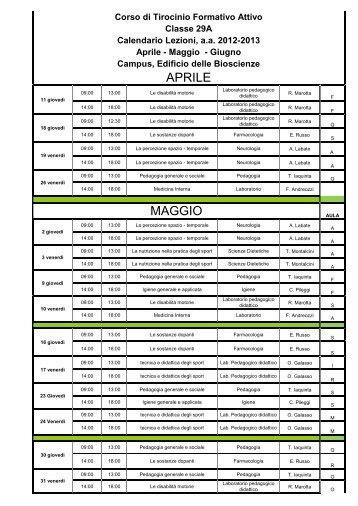 Calendario Lezioni Unicz.Iaquinta Magazines