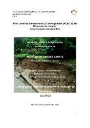 Plan Local de Emergencias y Contingencias - Usiacurí