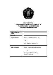 manual mutu jurusan ilmu administrasi publik fakultas ilmu