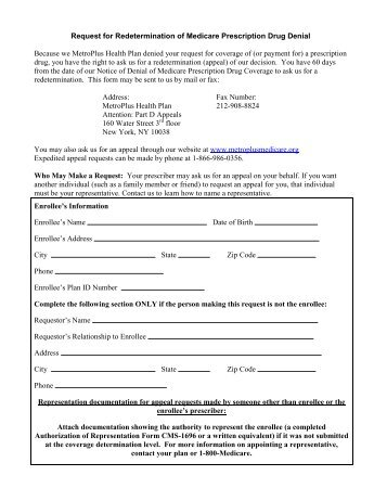 MEDICARE REDETERMINATION REQUEST FORM - AlohaCare