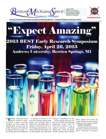 EXPECT AMAZING - 2013 BEST Early Research Symposium