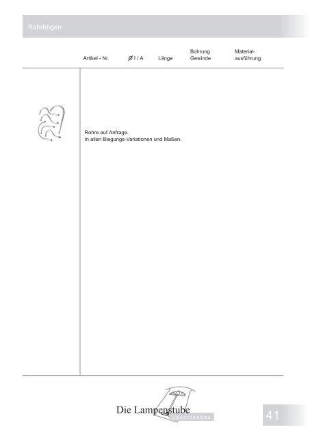 Bauteile-Kalalog als pdf - Dokument downloaden (2 ... - Lampenstube
