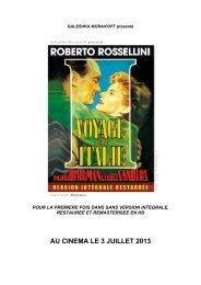 AU CINEMA LE 3 JUILLET 2013 - Films Sans Frontières