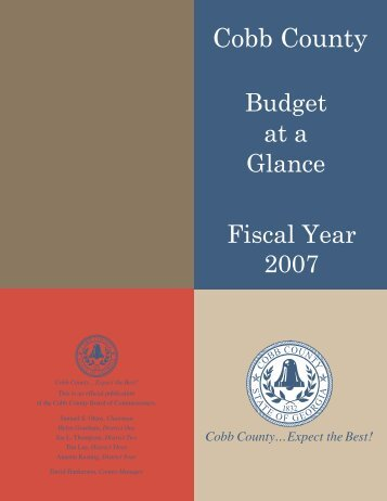 Budget at Glance 2007 (new).indd - Cobb County