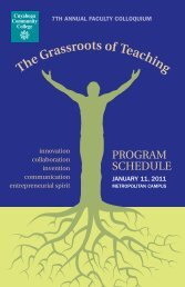 The Grassroots of Teaching - my Tri-C space - Cuyahoga ...