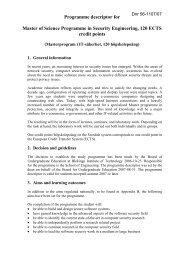 Utbildningsplan för - Blekinge Tekniska Högskola
